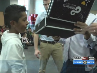 Darth Vader delivers prosthetic for 4th grader