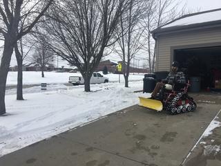 Veteran makes wheelchair snowplow