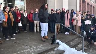 Students rally against white nationalist