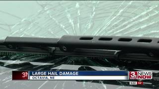 Nebraska pummeled with softball-sized hail