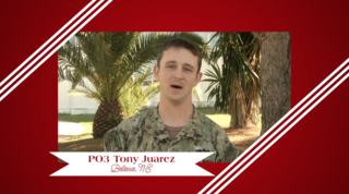 Military Greeting: PO3 Tony Juarez