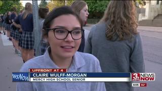 Mercy High School students welcome freshmen