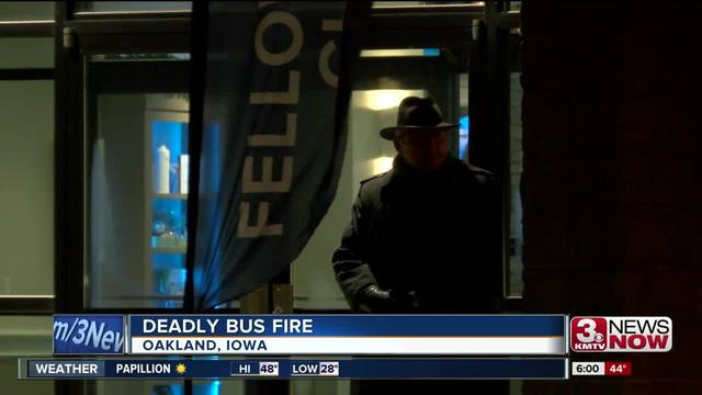 Two dead in Iowa bus fire