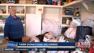 Loads of yarn donated to 81-year-old woman