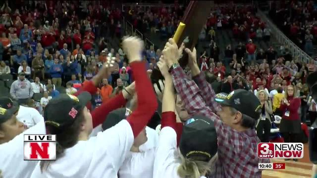 Huskers celebrate National Championship win