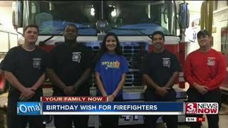 Omaha girl's birthday wish benefits firefighters
