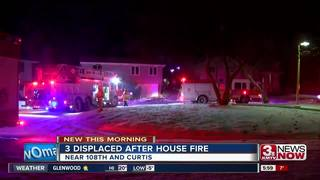 Three displaced by overnight fire