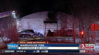 Warehouse damaged in overnight fire