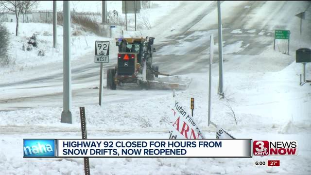 highway 92 reopened after blizzard kmtv com
