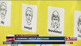 Elementary students learning about emotions
