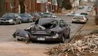 Tree crushes cars on windy Sunday