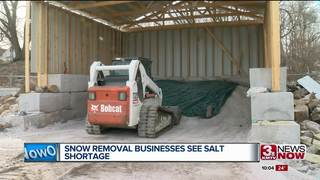 Snow removal businesses deal with salt shortage