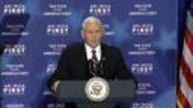 Vice President Mike Pence speaks in Council Bluffs