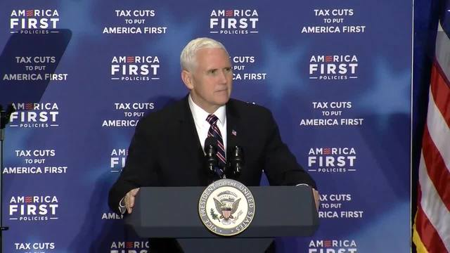 Vice President Mike Pence arrives in Omaha ahead of rally