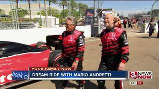 Waterloo man gets dream ride with Mario Andretti