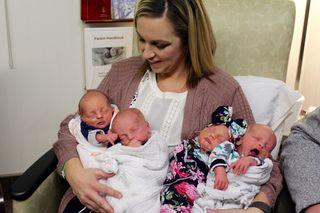 Quadruplets born at Nebraska Medicine