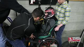 Local go-cart driver races for rehab