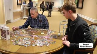 Students spend time with dementia patients