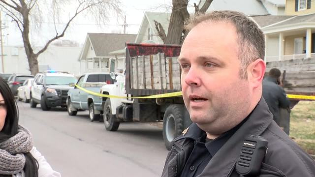 Sgt. Chuck Casey gives an official update from the scene of a traffic incident in North Omaha involving a school bus