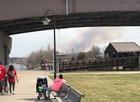 Fire shuts down Veterans Memorial Bridge