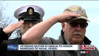 Members of USS Roark meet in Omaha to honor hero