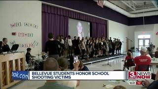 Bellevue students sing tribute to school...