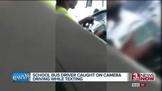 School bus driver fired for texting and driving