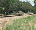Suspects put debris on train tracks, police say