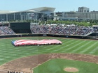 College World Series kicks off with flyover