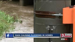 Excessive rain flooding basements