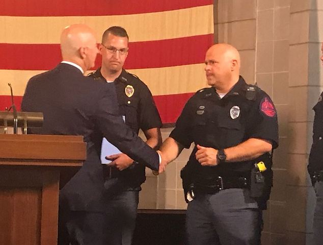 Governor honors NSP trooper in medication relay