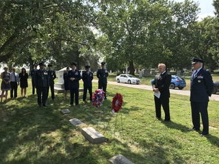Ceremony marks 100 years since Lt. Offutt death