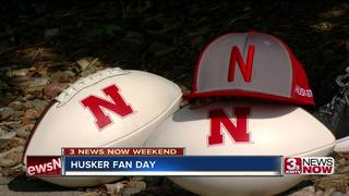 Large crowds at Husker Fan Day