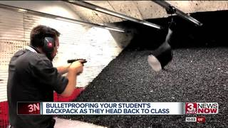 Bullet-resistant inserts for backpacks in Omaha