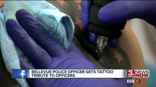 Bellevue police officer gets tattoo tribute