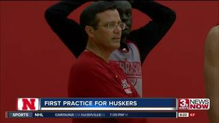 Huskers basketball holds first practice