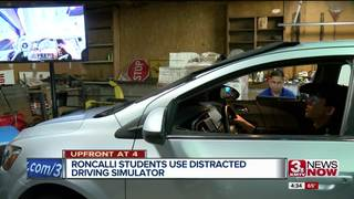 Simulator puts teens in distracted driver's seat