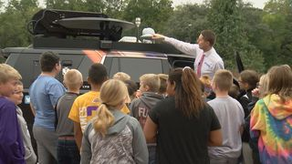 Middle schoolers learn about the weather
