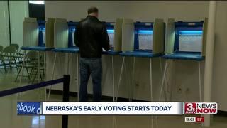 Early voting starts today in Nebraska