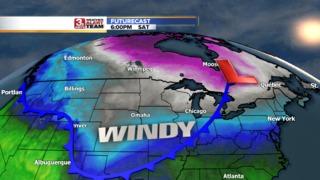 A Cold Blast Hits the Heartland Saturday