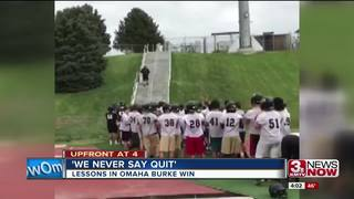 Omaha Burke's 'winning' lessons on and off field